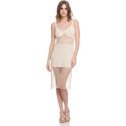 Clothing Women Dresses Laura Moretti Dress LRCP8N1008 Beige F Beige
