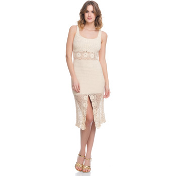 Clothing Women Dresses Laura Moretti Dress LRCP8N1009 Beige F Beige