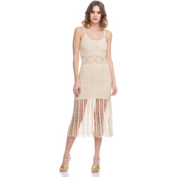 Clothing Women Dresses Laura Moretti Dress LRCP8N1012 Beige Woman Spring/Summer Collection 2018 Beige