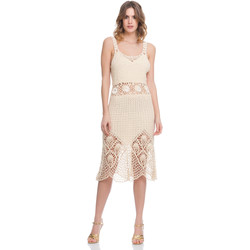 Clothing Women Dresses Laura Moretti Dress LRCP8N1014 Beige Woman Spring/Summer Collection 2018 Beige