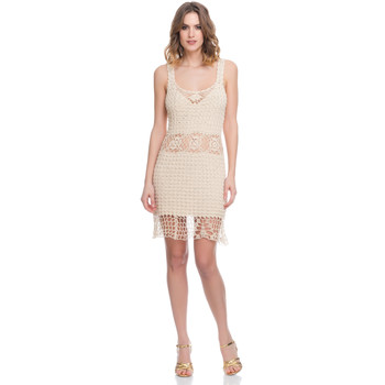 Clothing Women Dresses Laura Moretti Dress LRCP8N1017 Beige Woman Spring/Summer Collection 2018 Beige