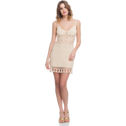 Clothing Women Dresses Laura Moretti Dress LRCP8N1018 Beige Woman Spring/Summer Collection 2018 Beige