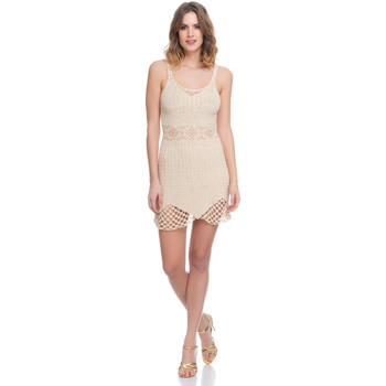 Clothing Women Dresses Laura Moretti Dress LRCP8N1022 Beige F Beige