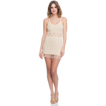 Clothing Women Dresses Laura Moretti Dress LRCP8N1025 Beige Woman Spring/Summer Collection 2018 Beige