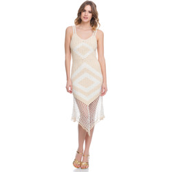 Clothing Women Dresses Laura Moretti Dress LRCP8N1029 Beige Woman Spring/Summer Collection 2018 Beige