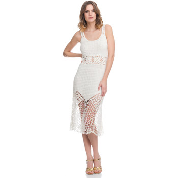 Clothing Women Dresses Laura Moretti Dress LRCP8N1035 White Woman Spring/Summer Collection 2018 White