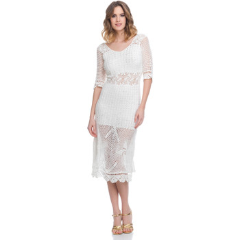 Clothing Women Short Dresses Laura Moretti Dress LRCP8N1041 White Woman Spring/Summer Collection 2018 White