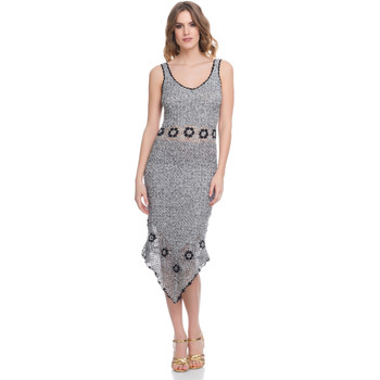 Clothing Women Dresses Laura Moretti Dress LRCP8N1052 Grey Woman Spring/Summer Collection 2018 Grey