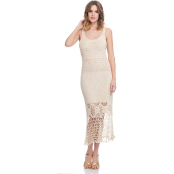 Clothing Women Dresses Laura Moretti Dress LRCP8N1078 Beige Woman Spring/Summer Collection 2018 Beige