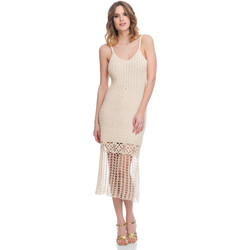 Clothing Women Dresses Laura Moretti Dress LRCP8N1080 Beige Woman Spring/Summer Collection 2018 Beige