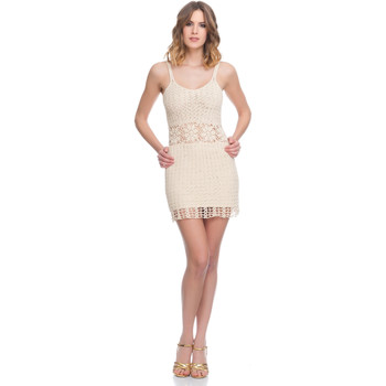 Clothing Women Dresses Laura Moretti Dress LRCP8N1081 Beige Woman Spring/Summer Collection 2018 Beige