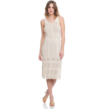 Clothing Women Dresses Laura Moretti Dress LRCP8N2003 Beige Woman Spring/Summer Collection 2018 Beige