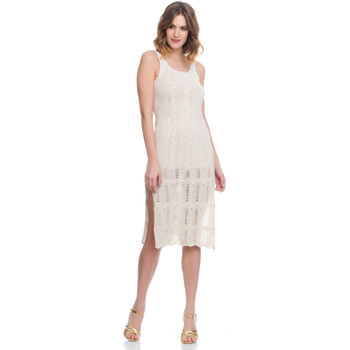 Clothing Women Dresses Laura Moretti Dress LRCP8N2004 Beige F Beige
