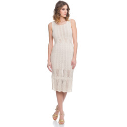 Clothing Women Dresses Laura Moretti Dress LRCP8N2005 Beige F Beige