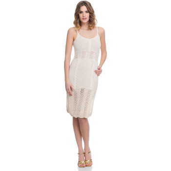 Clothing Women Dresses Laura Moretti Dress LRCP8N2006 Beige F Beige