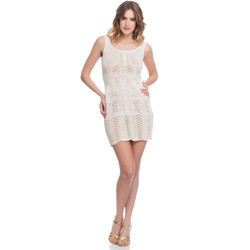 Clothing Women Dresses Laura Moretti Dress LRCP8N2013 Beige Woman Spring/Summer Collection 2018 Beige