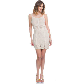 Clothing Women Dresses Laura Moretti Dress LRCP8N2014 Beige F Beige