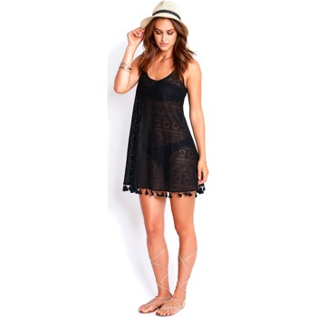 Clothing Women Tunics Watercult Lace Beach Dress  Black - Modern Lace Black