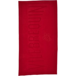 Clothing Women Swimsuits Vilebrequin Beach towel , Sand -  Jacquard solid poppy Red