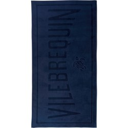 Clothing Women Swimsuits Vilebrequin Beach towel , Sand - Jacquard solid navy Blue
