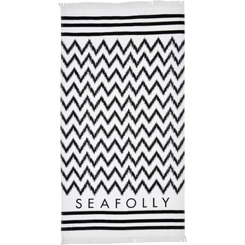 Clothing Women Swimsuits Seafolly Towel Black and White, Ikat Signature Black