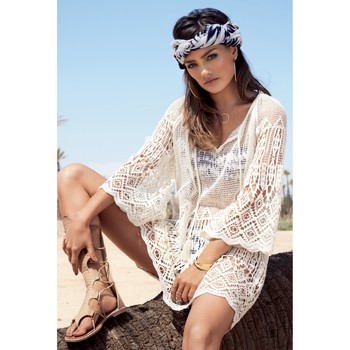 Clothing Women Tunics Watercult Lace Cover-up  Ecrue - Artisan Boho White