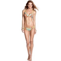 Clothing Women Bikini Separates Maaji Bikini Bottom 4 sided straps Rock On Yard   Multicolour Blue Yel Flowers
