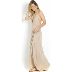 Clothing Women Tunics Acacia Swimwear Long Beach Dress Deep Back cut ACACIA, Clay - Sumba Sand