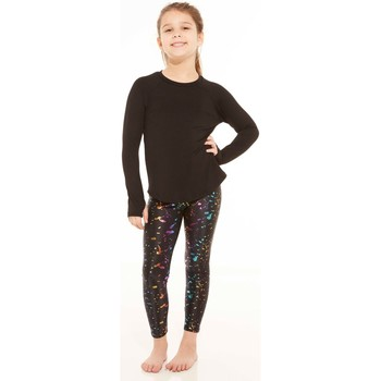 Clothing Women leggings Terez Kids Rainbow Foil Leggings Multicolour