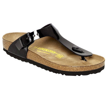 Shoes Women Flip flops Birkenstock GIZEH Black Patent