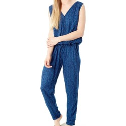 Clothing Women T-shirts & Polo shirts Protest MONO  GAS BLUE DARLENE JUMPSUIT 2622081 AZUL