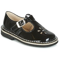 Shoes Girl Flat shoes Aster DINGO Black / Varnish