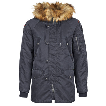 Clothing Men Parkas Superdry COMMANDO HEAVY PARKA Marine
