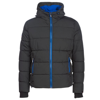 Clothing Men Duffel coats Superdry SPORTS PUFFER Black