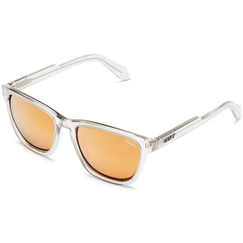 Watches Men Sunglasses Quay Australia Hardwire Sunglasses Grey With Peach Lens Grey
