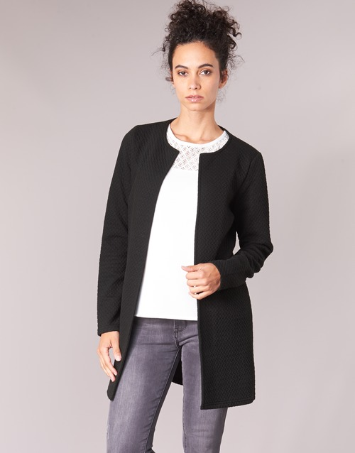 Clothing Women Jackets / Blazers Vila VINAJA LONG Black