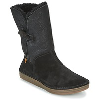 Shoes Women Mid boots El Naturalista RICE FIELD  black