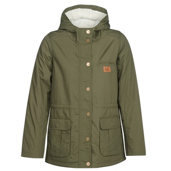 Clothing Women Parkas Billabong FACIL ITI Olive