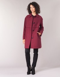 Clothing Women coats Sisley FAREDA Bordeaux