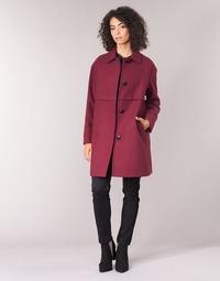 Clothing Women Coats Sisley FAREDA Bordeaux