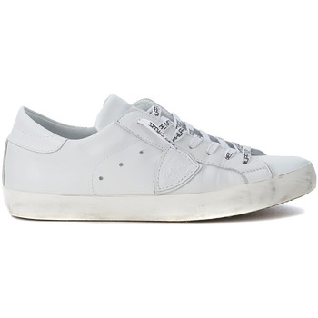 Shoes Men Low top trainers Philippe Model Paris Paris white leather sneakers White