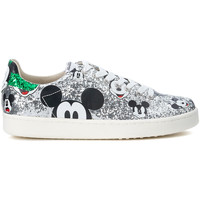 Shoes Women Low top trainers Moa - Master Of Arts Sneaker MoA Micky Mouse in glitter argento Silver