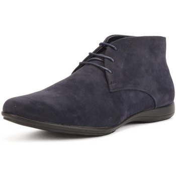 Shoes Men Mid boots Reservoir Shoes Lace-up ankle boots TAREK Navy blue Man Spring/Summer Collectio Navy blue