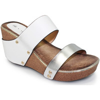Shoes Women Sandals Lunar Ladies Yasmin Wedge Mule Sandal White