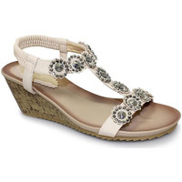Shoes Women Sandals Lunar Ladies Cally Wedge Sandal Beige