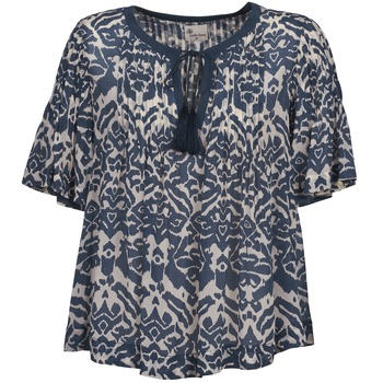 Clothing Women Tops / Blouses Stella Forest ANNAICK Ecru / Blue