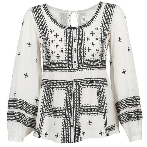 Clothing Women Tops / Blouses Stella Forest ANTONETA Ecru / Black