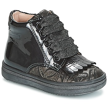Shoes Girl Hi top trainers Acebo's DOLAGIRI Black / Silver