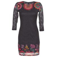 Clothing Women Short Dresses Desigual DARINA Black