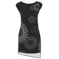 Clothing Women Short Dresses Desigual SANDRINI Black